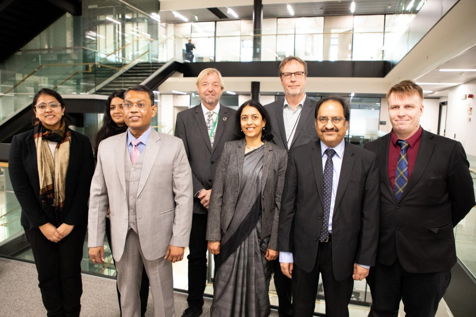 Ms. Akshaya and Ms. Smrithi were part of the Indian delegation in the Helsinki meeting