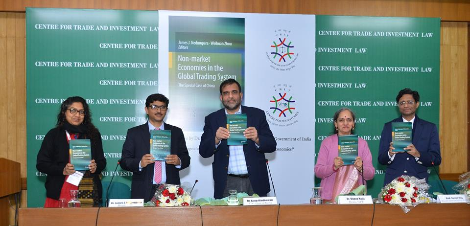 Dr. Anup Wdhawan releasing the book on Non-Market Economies in The Global Trading System