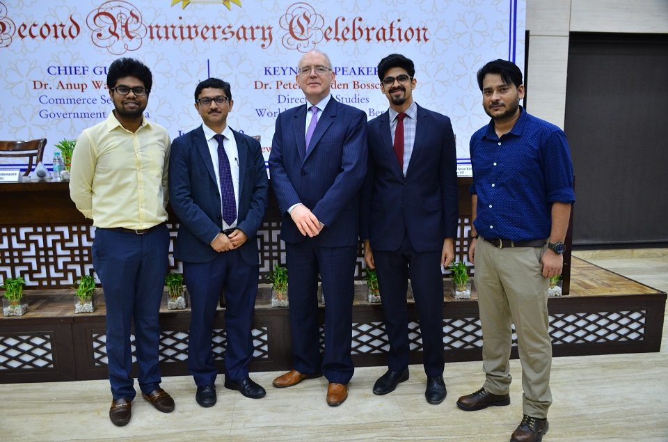 CTIL team members with Dr. Peter Van den Bossche, Former WTO Appellate Body Member