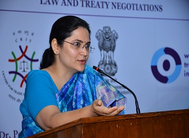 Negotiation Workshop on Trade in Services by Ms. Sangeeta Saxena, Director, TPD and EP (Services), DoC