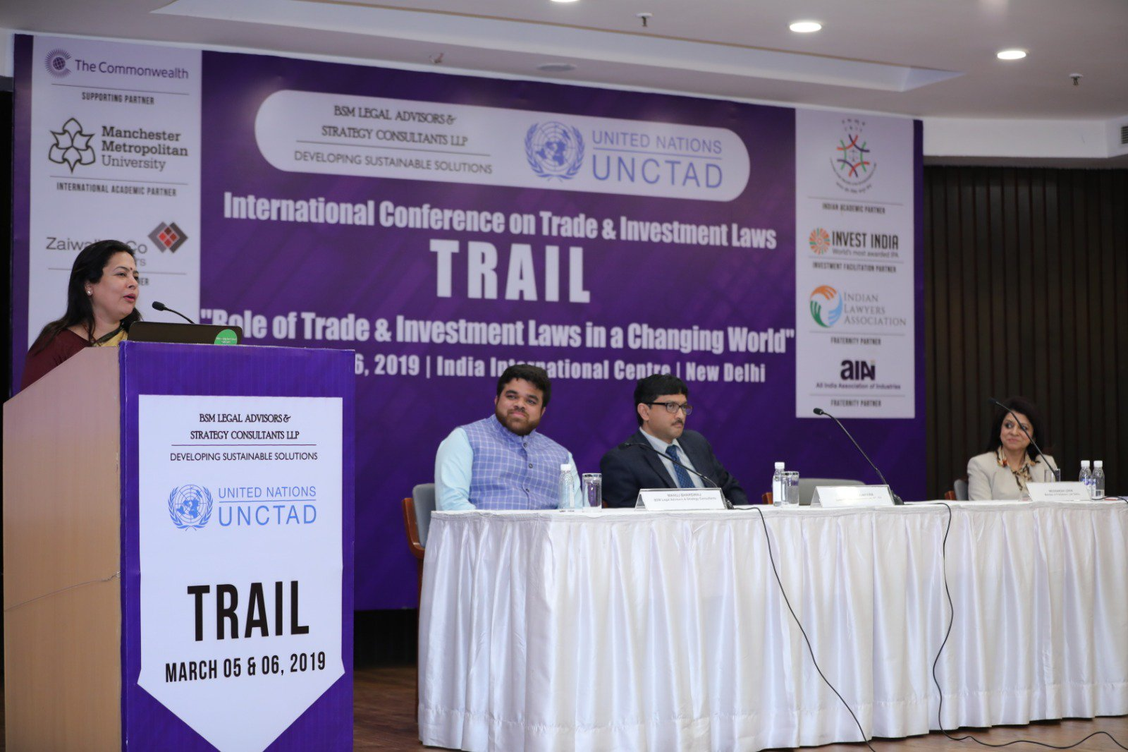 Ms. Meenakshi Lekhi, MP speaking at International Conference on Trade & Investment Laws (TRAIL)