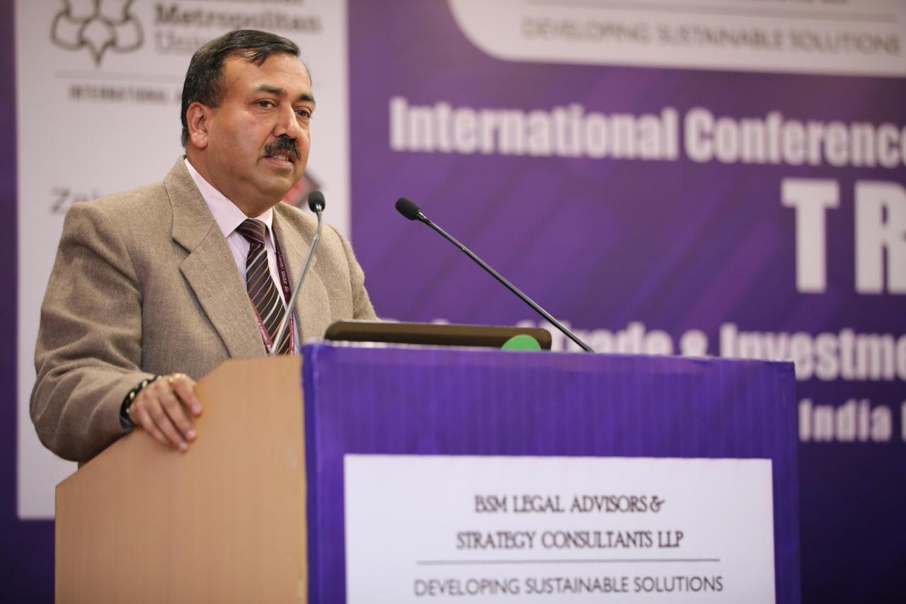 Mr. Sudhanshu Pandey, AS, DoC speaking at International Conference on Trade & Investment Laws (TRAIL)